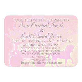 水彩画のおとぎ話のRounddの角の結婚式の招待 カード