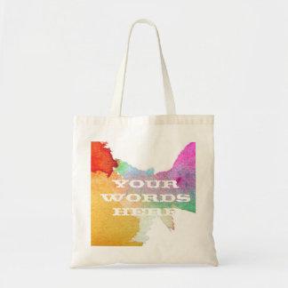 水彩画のしぶき トートバッグ