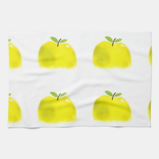 水彩画のりんごの台所タオル キッチンタオル