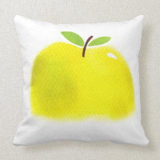 水彩画のりんごの綿の枕 クッション