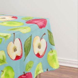 水彩画のりんごパターン テーブルクロス