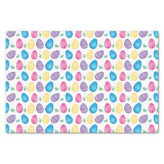 水彩画のイースターエッグの狩りパターン 薄葉紙