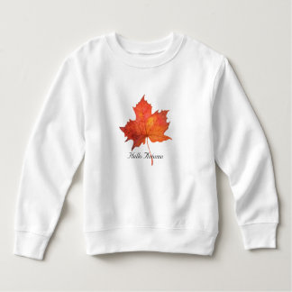 水彩画のカエデの葉 スウェットシャツ