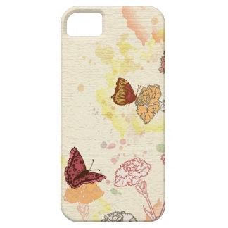 水彩画のカーネーション及び蝶iPhone 5sケース iPhone SE/5/5s ケース