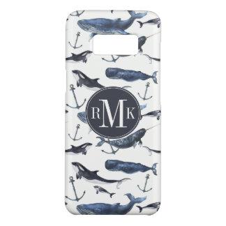 水彩画のクジラ及びいかりパターン Case-Mate SAMSUNG GALAXY S8ケース