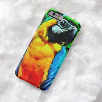水彩画のコンゴウインコのオウムのiPhone6ケース Barely There iPhone 6 ケース