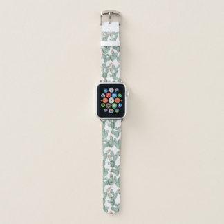 水彩画のサボテンのAppleの時計バンド Apple Watchバンド