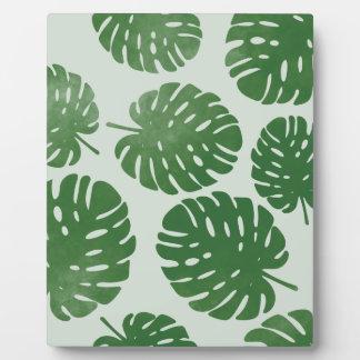 水彩画のシュロの葉 フォトプラーク