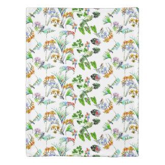 水彩画のジャングル及び鳥|の羽毛布団カバー 掛け布団カバー
