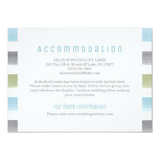 水彩画のストライプなビーチ結婚式の調節 11.4 X 15.9 インビテーションカード