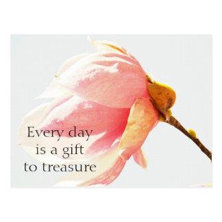 水彩画のチューリップ木の花 ポストカード