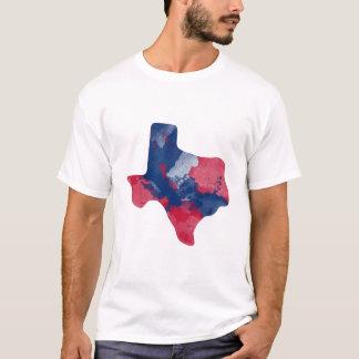 水彩画のテキサス州メンズワイシャツ Tシャツ