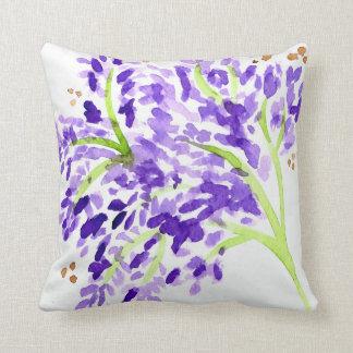 水彩画のデザインの枕 クッション