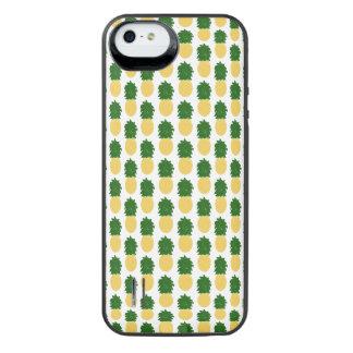 水彩画のデジタルパイナップルデザイン iPhone SE/5/5sバッテリーケース