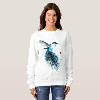 水彩画のハチドリ、羽の鳥、 スウェットシャツ