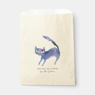 水彩画のハロウィン猫 フェイバーバッグ