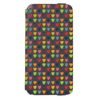 水彩画のハートパターン INCIPIO WATSON™ iPhone 5 財布型ケース