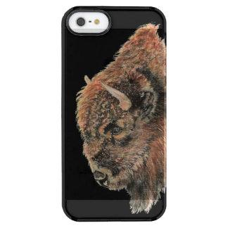 水彩画のバッファローのバイソン動物自然の芸術 クリア iPhone SE/5/5sケース