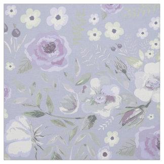 水彩画のバラの実およびバラの花のバイオレットID460 ファブリック