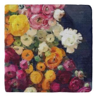 水彩画のバラ トリベット