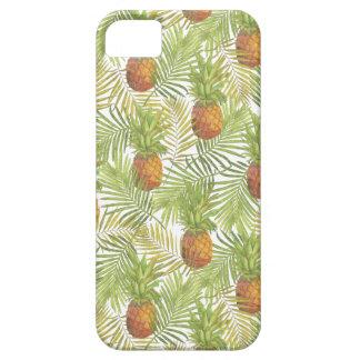 水彩画のパイナップルパターン iPhone SE/5/5s ケース
