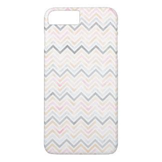水彩画のパステル調のシェブロンのiPhone 7のプラスの場合 iPhone 8 Plus/7 Plusケース
