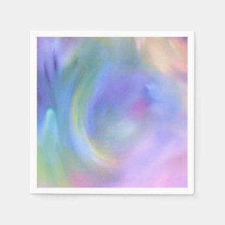 水彩画のパステル調の虹-すべての選択 スタンダードカクテルナプキン
