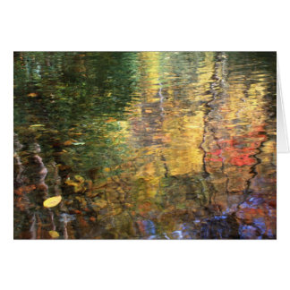 水彩画のパレットカード カード