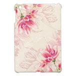 水彩画のピンクのチューリップ iPad MINIケース