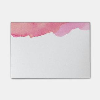 水彩画のピンクのポスト・イット ポストイット