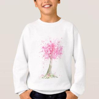 水彩画のピンクの桜 スウェットシャツ