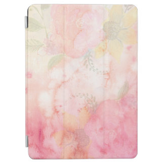 水彩画のピンクの花の背景 iPad AIR カバー