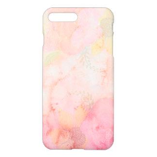 水彩画のピンクの花の背景 iPhone 8 PLUS/7 PLUSケース