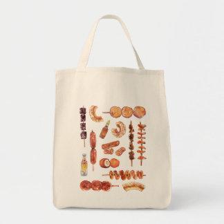 水彩画のフィリピン人のフィリピンの通りの食糧 トートバッグ