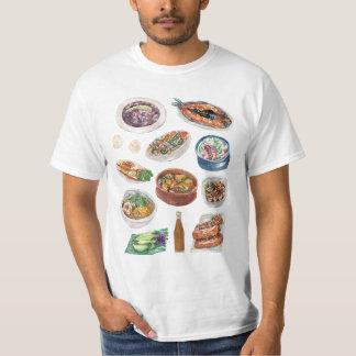水彩画のフィリピン人の伝統的なフィリピンの食糧 Tシャツ