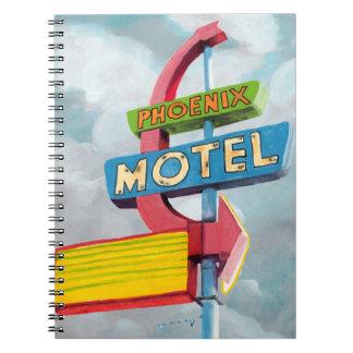 水彩画のフェニックスのモーテル ノートブック