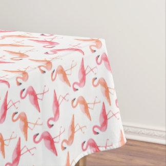 水彩画のフラミンゴ テーブルクロス