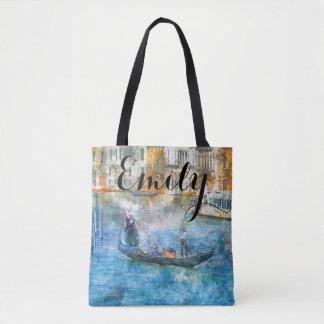 水彩画のベニスイタリアのカスタムなバッグ トートバッグ