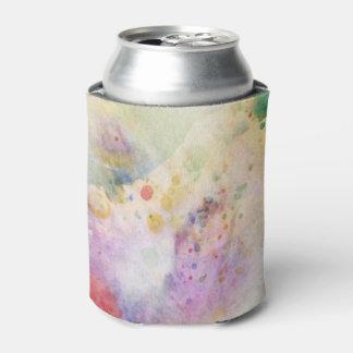 水彩画のペンキとの抽象的でグランジな質 缶クーラー