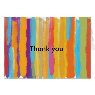 水彩画のペンキの芸術及び技術は折目カード感謝していしています カード