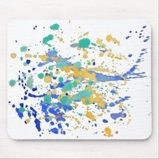水彩画のペンキの(ばちゃばちゃ)跳ねる マウスパッド
