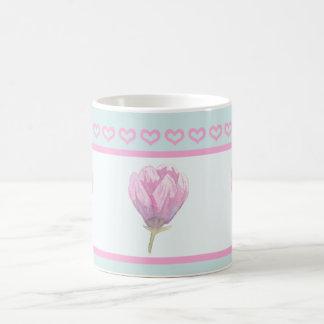 水彩画のマグノリアの開花 コーヒーマグカップ