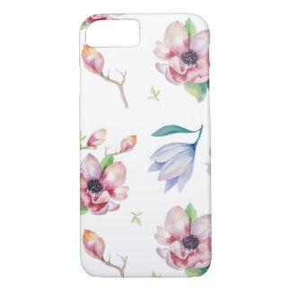 水彩画のマグノリア iPhone 8/7ケース