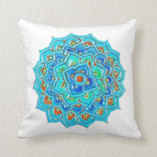 水彩画のマンデラのデザインのモロッコのタイル クッション
