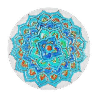 水彩画のマンデラのデザインのMoorishのタイル カッティングボード