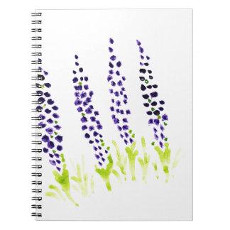 水彩画のムスカリ ノートブック