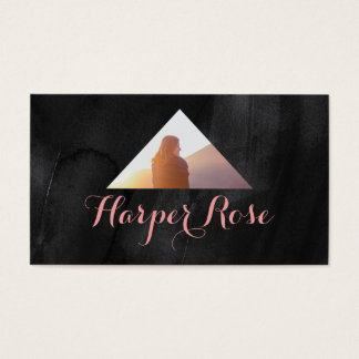 水彩画のモダンな写真の三角形 名刺