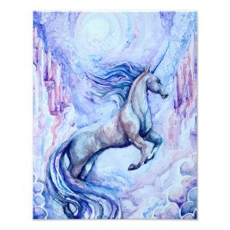 水彩画のユニコーンの写真のプリント フォトプリント