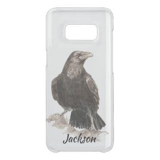 水彩画のワタリガラスの鳥の自然の芸術 GET UNCOMMON SAMSUNG GALAXY S8ケース