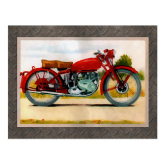 水彩画のヴィンテージのオートバイ ポストカード